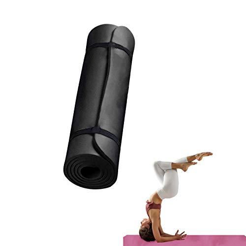WAZG Tappetino Yoga Antiscivolo - Tappetino Fitness 183x60x0.4cm - Tappetino per Ginnastica con Superficie Testurizzata - Perdere Peso, Yoga, Pilates, Allenamento all'aperto, Palestra e Casa (Nero)