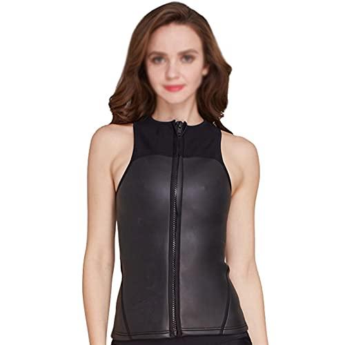 MHSHKS Traje de buceo para mujer, traje de neopreno de 2 mm, para buceo, surf, natación, deportes acuáticos (talla XXL)