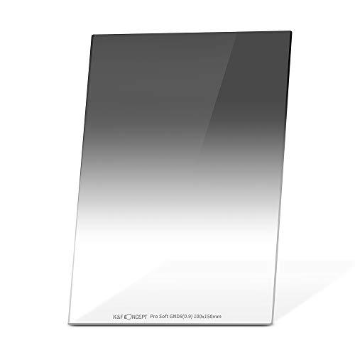 K&F Concept 角型フィルター GND8フィルター ソフト GND0.9 光学ガラス 100*150*2mm