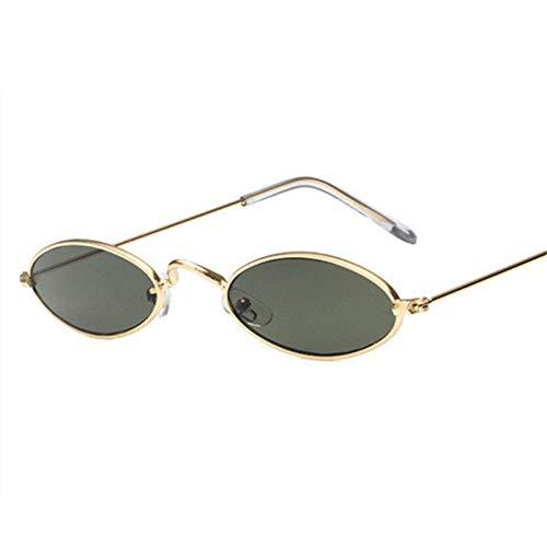 Gafas De Sol Hombre Mujeres Ciclismo Gafas De Sol Ovaladas Pequeñas para Hombre, Montura De Metal Retro, Amarillo, Rojo, Gafas De Sol Redondas Vintage para Mujer-C5