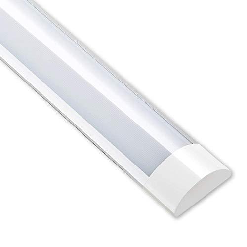 LEDベースライト LED直管蛍光灯 LED蛍光灯 一体型LEDライト 直管ランプ 軽量 器具一体式 照明器具 40W形 超高輝度 工事不要 省エネ 簡単接続可能 天井直付 キッチンライト 学校用 照明 即時点灯(60cm 1pcs, 昼白色)