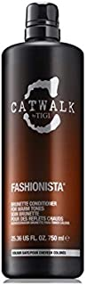 Tigi Catwalk Fashionista Brunette Conditioner (750ml) (Pack of 6) - ティジーキャットウォークファッショブルネットコンディショナー(750ミリリットル) x6 [並行輸入品]