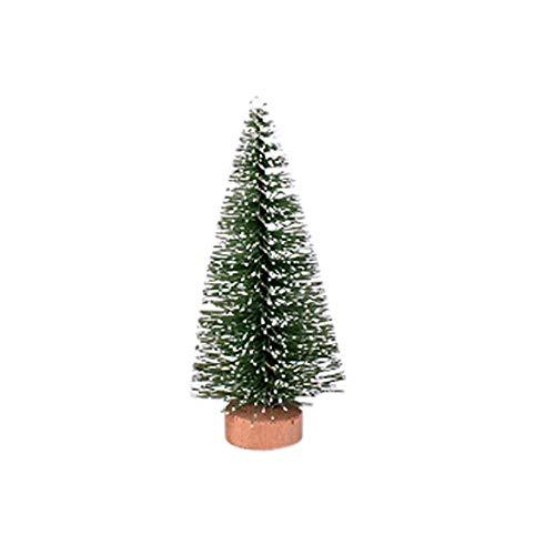 Christmas Tree Mini Pine Tree With Wood Base Diy Home Table Top Decor, Micro Landscape Accessories Pine Needle Xmas Tree, B