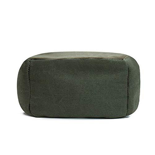 ZYLE Tatami Bean Bag Sofá Perezoso Dormitorio Balcón Cómodo Ocio Cojín Raya Párrafo Diseño extraíble y Lavable 65 × 65 × 43cm (Color : C)