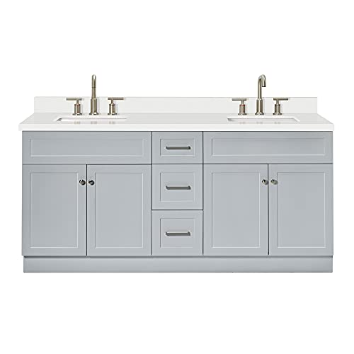 """ARIEL 73"""" Inch Double Vanity Cabinet in Grey 