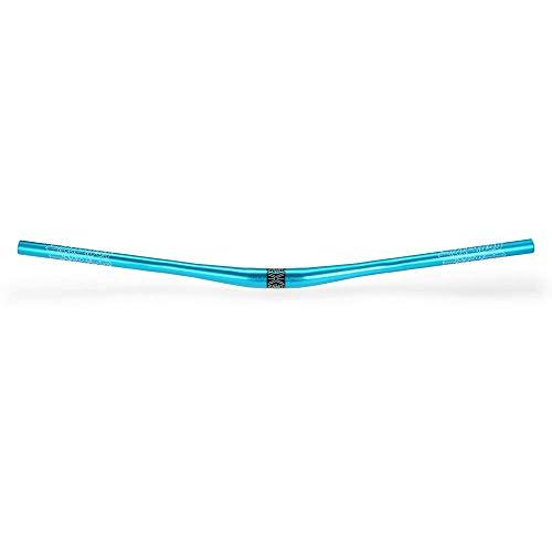 Lixada - Manubrio in Lega di Alluminio anodizzata, per MTB, Piatto, 780mm, Blu
