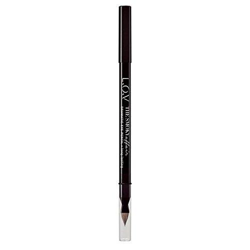 L.O.V. Make-up The Smoky Affair Dramatic Eye Pencil, Crayon Yeux Smoky, impacr d'un regard charbonneux, couleur qui tient, texture crème douce, n°300 Melancholic Antigone, 1.2 g, 0.042 oz.