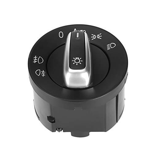 Dimmer Switch para Chevrolet Silverado, Interruptor de luces delanteras del coche Control Euro Faros antiniebla Luz Interruptor integrado para VW Eos Touran Tiguan Passat CC Jetta MK5 Golf 5ND941431B