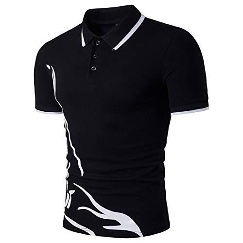 Willlly poloshirt voor heren, zomerprint, chic revers, casual, korte mouwen, poloshirt, bovenstuk, casual daily uitgaan, mode sport, polohemd basic