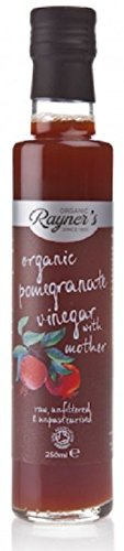 Rayners Organic Raw Pomegranate Vinegar With Mother 250ml (Pack of 2)