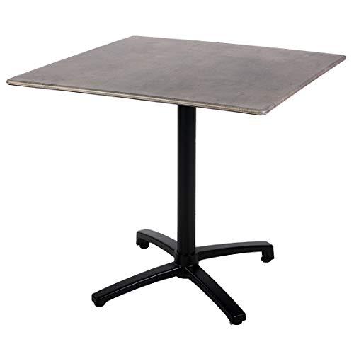 OUTLIV. Gartentisch Bistrotisch 80x80cm abklappbar Smartline Aluminium/Topalit Outdoor Tisch