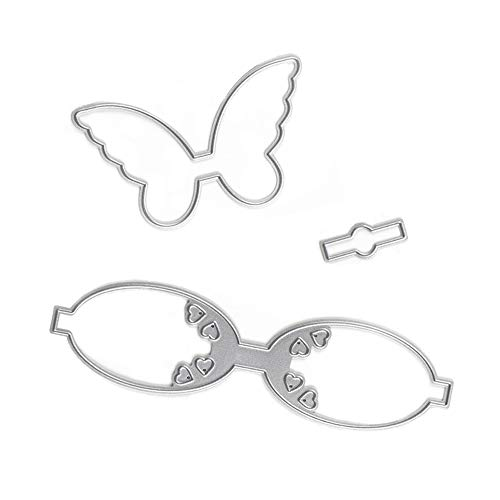 Butterfly Bow Metal Cutting Dies Stencil Template Moulds, Embossing Tool for Album Paper Card Making Scrapbooking DIY Etched Dies Craft (Butterfly Bow)