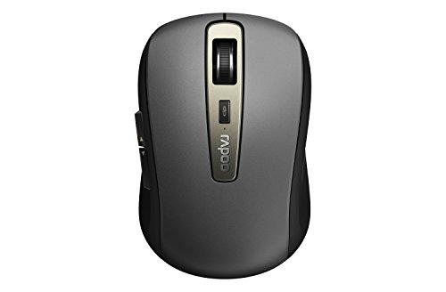 Rapoo MT350 - Ratón inalámbrico Bluetooth y 2,4 GHz (2,4 GHz), multimodo, conexión de Varios Dispositivos, 1600 PPP, Color Negro