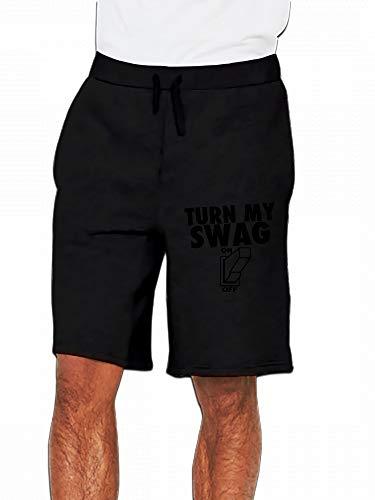 JiJingHeWang Turn My Swag On Mens Casual Shorts Pants