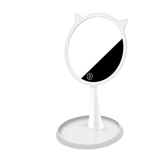 Espejo LED de la pantalla táctil de alta definición de maquillaje Espejo, 90 Conveniente Rotación de carga USB, simple viaje de Ministerio del Interior conveniente maquillaje de belleza espejo de maqu