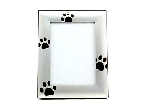 SKYWAY Puppy Dog Paw Print Pet Photo Picture Frame Silver - 5 x 7