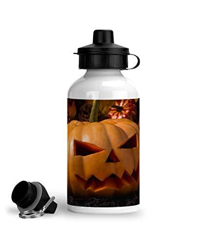 Cheeky Chaps Clothing Botella de agua deportiva de aluminio lindo Punpkins Halloween otoño