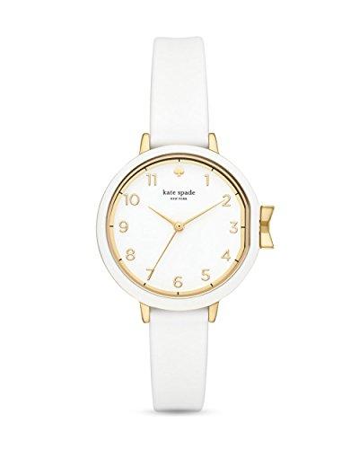 Kate Spade New York Park Row Reloj analógico para Mujer con Correa de Silicona Blanca KSW1441