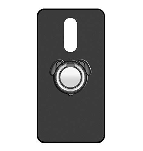 Sunrive Für ZTE Nubia Z11 Max Hülle Silikon, 360°drehbarer Ständer Ring Fingerhalter Fingerhalterung Handyhülle matt Schutzhülle Etui Case (Farbe schwarz)+Gratis Universal Eingabestift MEHRWEG