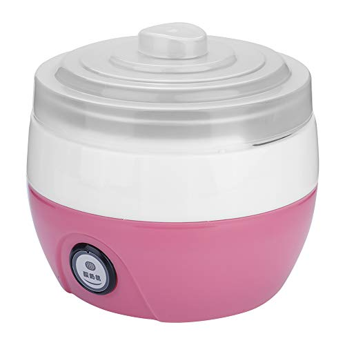 Guoshiy Macchina per Yogurt Digitale per gelatiera per Uso Domestico Fai-da-Te, per Cucina Domestica(Pink)