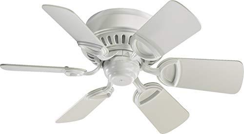 Quorum International Medallion 30' 6-Blade Ceiling Fan - Studio White - 51306-8