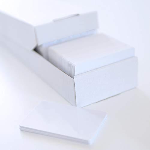 100 Blanko-Plastikkarten/Plastikkarten Rohlinge CR80 - PVC - Standard-Kreditkartenformat Farbe: weiß