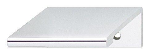 Gedotec Möbelgriff Küche Kantengriff Schubladen-Griff - Zurigo | Aluminium silber matt | Schrankgriff Länge 40 mm | Türgriff für rückseitige Verschraubung | 1 Stück - Design Griffleiste mit Schrauben