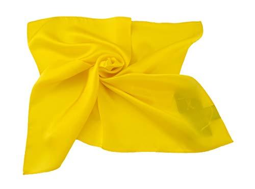 PB Pietro Baldini Bandana gelb - Halstuch 100% Seide - Damen Schal - Tuch für Damen - Kopftuch (Gelblich)