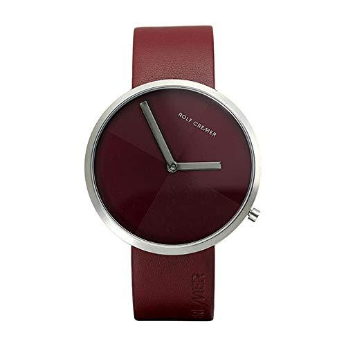 Rolf Cremer Slim 42 503605 Unisex Armbanduhr Bordeaux