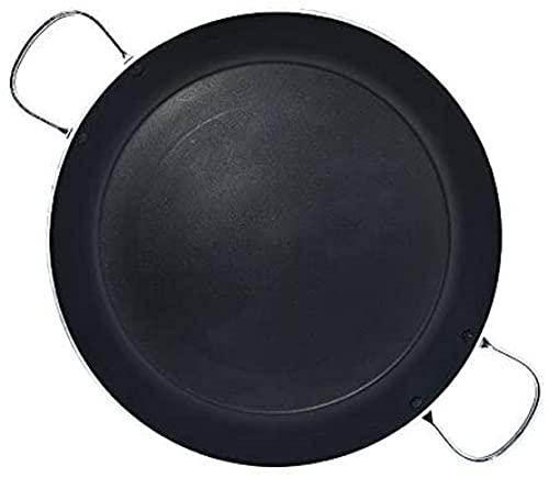 Jata Hogar Paellera de 6 Raciones con Fondo Difusor, Aluminio, Negro, 34 cm