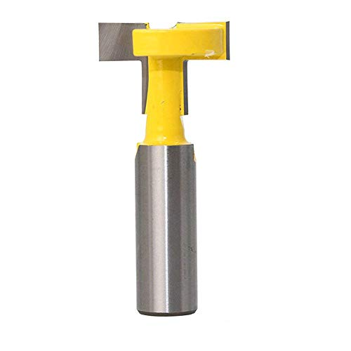 Eyech 1/2 Inch Shank Straight T Slot Router Bit & T-Track Slotting Cutter Carbide Wood Milling Cutter Woodworking Drill Bit Tool …