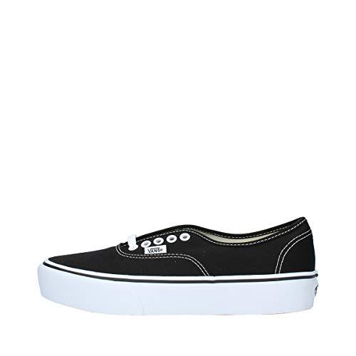 Vans Authentic Platform 2.0, Zapatillas para Mujer, Negro (Black Blk), 38.5 EU