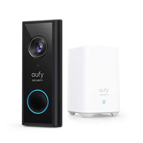 eufy Security, Kabellose Video Türklingel mit Akku, 2K HD, ohne monatliche Gebühren, smarte Personenerkennung, beidseitige Audiofunktion, kinderleichte Installation(Generalüberholt)