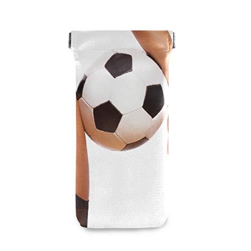 XiangHeFu Chica sexy con balón de fútbol Gafas de sol de fútbol Estuche Gafas Gafas Bolsa de anteojos Soporte multiuso presente Portátil