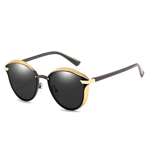 AEF Gafas Sol para Mujer Polarizadas Moda Protección UV400 Gran Tamaño Gafas Sol para Señoras, Marco Ultraligero,2
