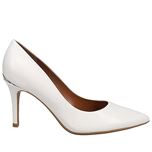 Calvin Klein Women's Gayle Pump, White Leather, 8