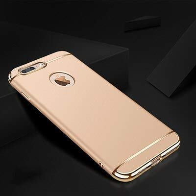 Cubierta completa de lujo galjanoplastia caso del teléfono para el iPhone 11 Pro Max 6 6s 7 8 Plus 5 5s SE X XS Max XR PC mate cubierta dura caso Capa-gold para iPhone 11 Pro