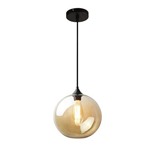 Hanglamp Vintage Industrial Metal Finish helder glas bol Round Shade Loft Retro plafondlamp Retro Ball helder glas lampenkap energiebesparend licht