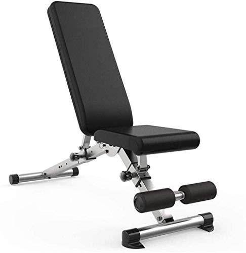 EW&HU Banco de pesas multifuncional Banco de pesas para uso doméstico plegable Banco de mancuernas gimnasio profesión fitness silla antideslizante ajustable Supine Board Unisex fácil (color: A)