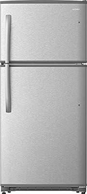 Daewoo RTE18GSSMD Top Mount Refrigerator, 18 Cu.Ft, Stainless Steel