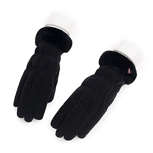 Aaedrag Touch Screen Winddichtes Handschuhe Herbst und Winter im Freien Fahren Handschuhe Winddichtes Anti-Rutsch-Reithandschuhe Damen Skihandschuh Plus Velvet starke warme Handschuhe