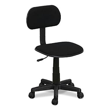 Furinno FCR101GBK Hidup Mesh Low-Back Nylon Base Swivel Chair, Black