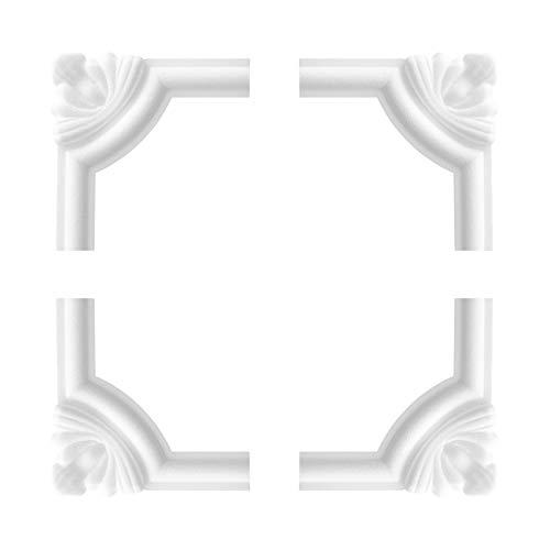 1 Set Segmente Bögen für Flachleiste E-27 | Stuck | Marbet Design | NE-27-02D