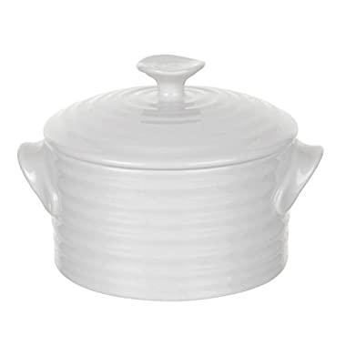 Portmeirion 595002 Round Pot with Lid, White
