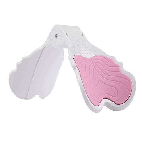 YANMUZI Ejercitador de Muslos Stovepipe Hip Lift Suministros de Yoga Multifuncionales Clip de Pierna de Belleza,Pink