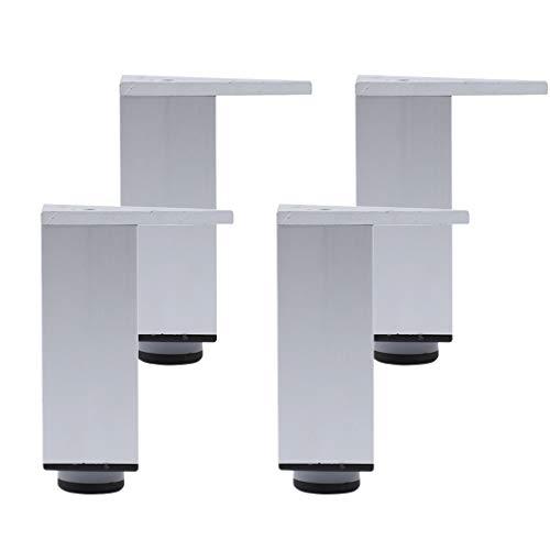 4 Patas para Muebles de Baño Patas para Sofas Aluminio Patas para Mueblesde Cocina Regulables Cuadradas No Oxidado para Mueble de Televisión Mesa de Centro Sofá Armario Mueble de Baño(28cm(11.02in))