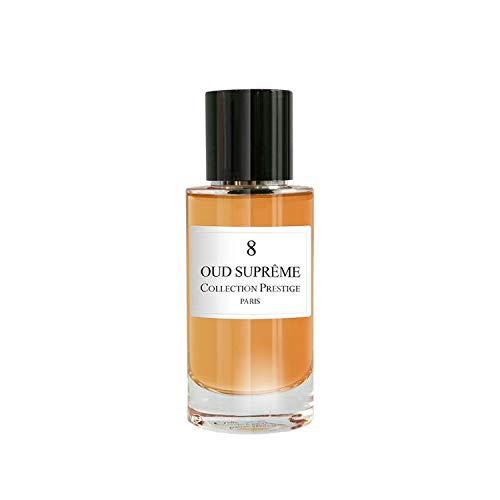 N°8 Oud Supreme | Ispahan - Collection Prestige edition Privée Rose Paris - Eau de Parfum Haut de Gamme - Made in France + Samtbeutel Rose Paris