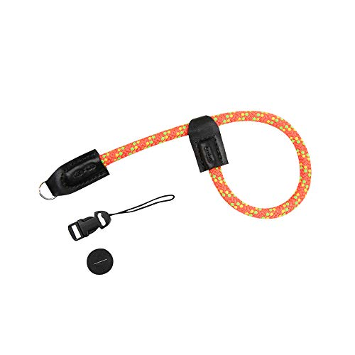 Foto&Tech Climbing Rope Camera Wrist Strap Quick Release US Made Compatible with Fuji X-T3 X-T20 X-T2 X-Pro2 Sony A6600 A6500 A6400 RX100VII Leica D-Lux 7 Ricoh GR III Canon G9 X Mark II (34cm, O/Y/G)