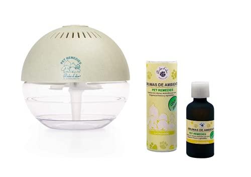 Boles d'Olor Brumizador Esencias para Eliminar Olores de Mascotas. Difusor de Aceites Esenciales. 400 ml con Bruma Limonada 50 ml