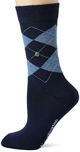 BURLINGTON Damen Socken Lurex Marylebone, Schurwollmischung, 1 Paar, Blau (Marine 6123), Größe: 36-41